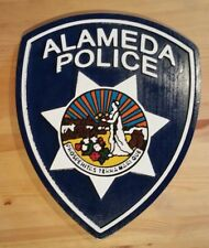 Police Department Alemeda  routed carved  patch plaque sign Custom