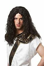 BARBARIAN VIKING THOR CAVEMAN WARRIOR ADULT MEN MALE COSTUME WIG BLACK LONG WAVY