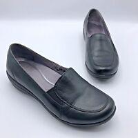 Dansko 2600020200 Women Black Leather Slip On Comfort Shoe Size 7.5 Pre Owned