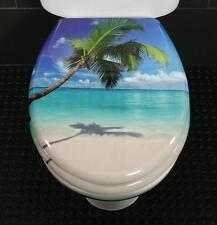 Toilet Seat Lone Palm Novelty Toilet Seat Duroplast With Stainless Steel Hinges