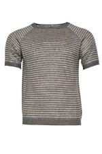 Eleventy T-Shirt Uomo M  Grigio Scuro lino  a righe