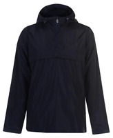 Lee Cooper 1/4 Zipped Rain Jacket Mens Navy UK Large *Ref54