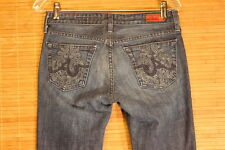 WOMENS A-G JEANS THE CLUB 27R BLUE JEANS FLARE LEG EXELLENT CONDITION.  #215