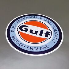 Gulf Research Racing Company sticker 75 mm  - Official Gulf Licensed Merchandise