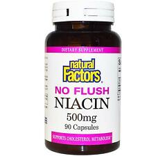 NO a filo Niacina (Vitamina B3) - 90 - 500mg Tablet da fattori naturali-SUPPLEMENTO