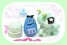 ❤️Authentic Littlest Pet Shop LPS BABY Green Flower Inchworm Mini Caterpillar❤️