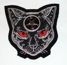 Midnight Satanic Black Cat Baphomet Occult Seance Robe Cape Witch 666 Patch 13 X