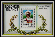 SOLOMON ISLANDS, SCOTT # 722, MINI SHEET OF SERGEANT MAJOR VACOB VOUZA, MNH