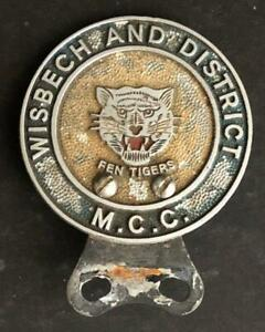 WISBECH AND DISTRICT MOTORCYCLE CAR CLUB MCC BADGE EMBLEM INSIGNIA
