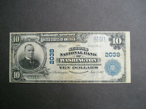 Series 1902 $10.00 The Second National Bank of Washington DC