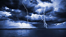 NATURAL SOUNDS CD THUNDER & LIGHTNING BY THE SEA OCEAN, THUNDERSTORM