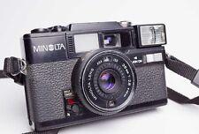 Minolta HI-MATIC SD2 DATE BLACK 35mm Film Camera 38mm f/2.8 Lens Made in Japan