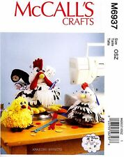 McCall's Sewing Pattern M6937 Sewing Organizers Pincushions Rooster Chicken 6937