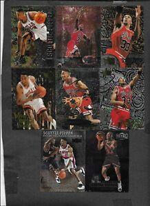 Scottie Pippen  (Bulls) Lot of 8 Fleer Metal Cards NM-MT