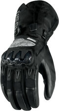 ICON Patrol Waterproof Leather/Textile Motorcycle Gloves (Black) L (Large)