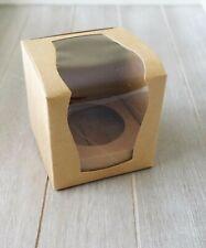 12x Elegant Brown Cupcake Boxes Wedding Bomboniere Baby Shower Favour Box