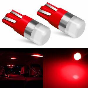 JDM ASTAR 2x Red T10 LED Map Parking License Door Lights Bulb 194 168 W5W 2825