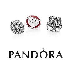 Auténtica Pandora encantos Medallón de Navidad Recuerdos Petite