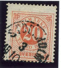 SWEDEN;  1877-79 early classic ' ore ' issue fine used 20ore. fair Postmark