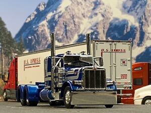 "1/64 DCP BLUE/SILVER PETERBILT 379 W/ 36"" SLEEPER"