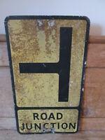 Road junction aluminum road sign. traffic sign.vintage sign.road sign.
