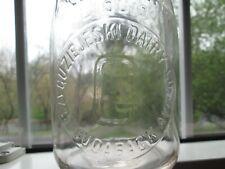 Milk Bottle Guziejeski Dairy 1739 Cudaback Ave Niagara Ny