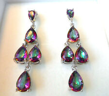 GORGEOUS MYSTIC TOPAZ.  STUD EARRINGS