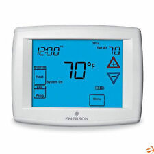 """Emerson 1F95-1291 Big Blue 12"""" Touchscreen Thermostat, Universal Staging/Heat."""