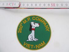 US Army 260th Division MP Company Nam SNOOPY PATCH RICAMATE wk2 WWII USMC Navy