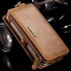 Genuine Leather Flip Wallet Card Slot Case Cover For Samsung Note 5 / S6 Edge +