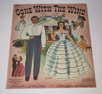 "Vintage Original ""Gone With The Wind"" Paper Dolls 1940 RARE Very Good Condition!"