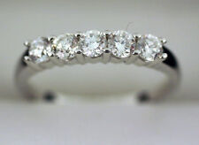 Band F-G Si #52, 5 x .20 ct 1 carat Diamond Wedding Ring 14k White Gold