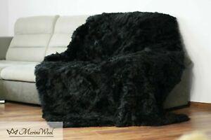 SALE Real Fur Rug Blanket ,Throw TOSCANA Wool Shearling Sheepskin Rug 160x200cm