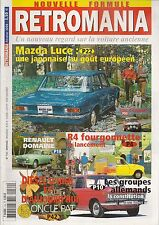 RETROMANIA 134 R4 FOURGONNETTE GROUPES ALLEMANDS RENAULT DOMAINE 57 MAZDA LUCE