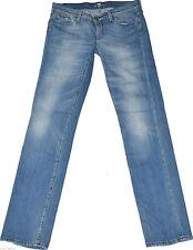 7 For All Mankind Damen-Jeans im Gerades Bein-Stil aus Denim