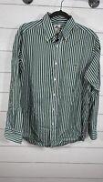 Lacoste Long Sleeve Button Down Shirt Green Striped Men's Size 42 US L