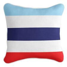 Classic Stripe - Premium Cushion Cover | Quality Indoor Outdoor Cabana Blue Red