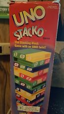 Uno Stacko Game Complete Blocks Stacking Mattel Color 1999 Number Tower