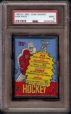 1984-85 O-Pee-Chee OPC Hockey Unopened Wax Pack Graded PSA 9 Mint