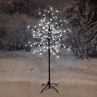 NEW 120CM LED BLOSSOM TREE WHITE DECORATION XMAS CHRISTMAS INDOOR OUTDOOR HOME