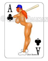 JESSICA RABBIT sexy Baseball bat girl pin-up playing card style sticker decal X