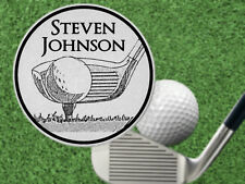 GOLF CLUB Pic Golf Ball Marker. Personalized FREE! Laser Engraved Steel Gift