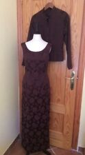 MONSOON STYLISH FULL LENGTH DRESS SUIT WITH JACKET.  SIZE 10.  BROWN WITH SHEEN