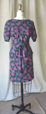 80s YSL Rives Gauche floral print silk dress petites