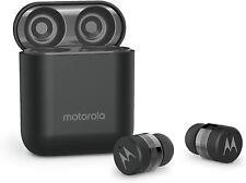 Motorola Verve Buds 110 Black Bluetooth Earbuds Wireless & Charging Base Black