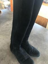 Stuart Weitzman 5050 Knee Boot, Black Suede, Size 8.5, Excellent Condition