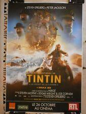 AFFICHE POSTER CINEMA TINTIN Le Secret de la Licorne Format 120*175 roulée