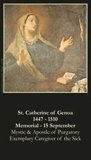 St Catherine of Genoa Prayer CARD (wallet size)