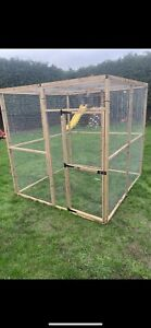 OUT OF STOCK Animal Run 6ft x 6ft 19G Chicken Rabbit Enclosure Mesh Roof Walk In
