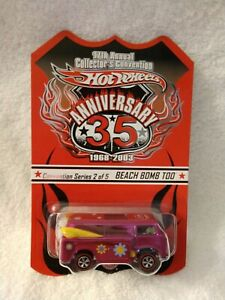 HOT WHEELS 17TH ANNUAL COLLECTORS CONVENTION BEACH BOMB TOO #1787/5000